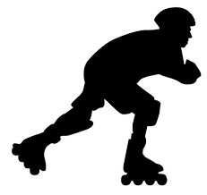 Image result for roller skater silhouette Different Sports, Inline Skating, Roller Skating, Decals, Silhouette Drawings, Stickers, Costa Rica, Ministry, Printables