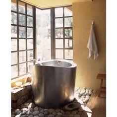 Circular Stainless Steel Ofuro Bath