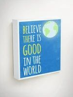 Be The Good Sign, Blue Canvas Art, Gifts For Teens, Graduation Gift, Believe There Is Good In The World, Gifts For Students, Volunteer Gifts Diy Nursery Decor, Nursery Design, Nursery Themes, Nursery Ideas, Star Themed Nursery, Star Nursery, Galaxy Nursery, Outer Space Nursery, Fun Fly