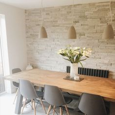 Ivory Split Face Mosaic Wall Tiles - Customer Project - Eleanor McClellan - Dining Kitchen Feature Wall.2