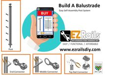 EZRails® Manufacture SABS Certified Smart Designer Balustrades, low-cost, professional self-assemble post kit systems. Stainless Steel Handrail, Level 3, Hand Tools, Welding, Saving Money, Pride, Self, Kit, Easy