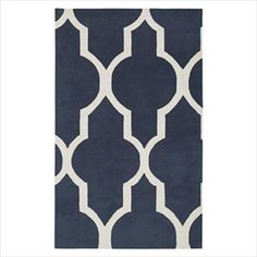 This contemporary navy blue rug will transition with your child decor from toddler-hood to teens and beyond.