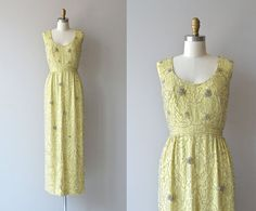 Malcom Starr beaded gown • 1960s silk beaded dress • vintage 60s long formal gown