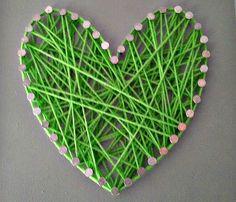 yarn string art #tutorial on the blog