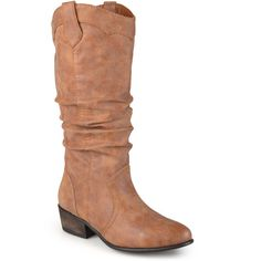 86bb5844534 Love this Journee Collection Chestnut Drover Slouch Wide-Calf Boot by Journee  Collection on