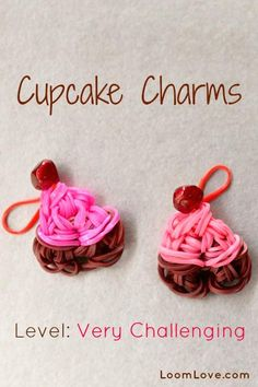 rainbow loom cupcake charms