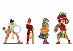 Guerreros aztecas. D