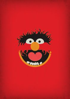 The Muppet Show Animal Minimalist Poster Retro by TheRetroInc