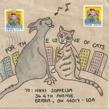 for the love of cats mail art - Google Search