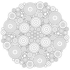 mandala circles coloring pages
