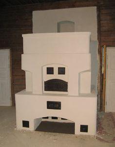 iso tuvan leivinuuni, jossa on kaksi valotakkaa Brick Masonry, Stoves, Fireplaces, Decorations, Beautiful, Home Decor, Fireplace Set, Fire Places, Decoration Home