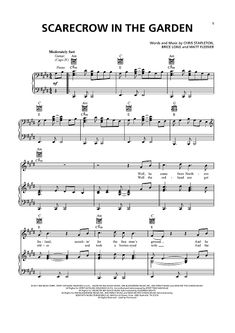 Good old days sheet music by macklemore sheet music - Chris stapleton scarecrow in the garden ...