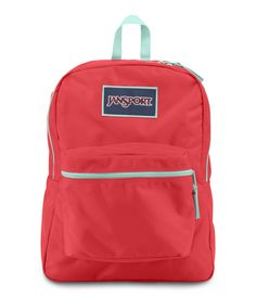 Jansport Overexposed Backpack - Coral Dusk / Aqua Dash Available at www.canadaluggagedepot.ca