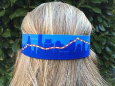Boston 26.2 visor w/ Boston Marathon course on the back band!
