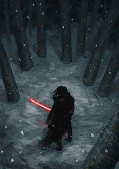 Kylo Ren in the snow