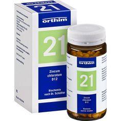 BIOCHEMIE Orthim 21 Zincum chloratum D 12 Tabletten:   Packungsinhalt: 400 St Tabletten PZN: 04532780 Hersteller: Orthim KG Preis: 5,68…