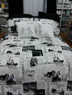 London Quilt Doona Cover Set Queen Size Bedding Big Ben Uk