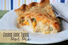 Cheddar Garlic Turkey Pot Pie!!