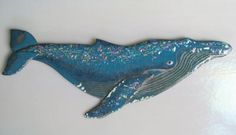 Humpback Whale by Tomilyn Clark fused glass