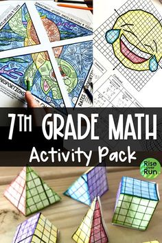 Big pack of resources for 7th grade math, including card sorts, games, projects, group activities, and more!  rigorous and engaging.  Great to use throughout the year to teach CCSS standards.