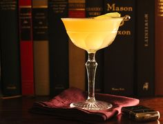 Royal Bermuda Yacht Club Cocktail 2 oz. Mount Gay Eclipse Rum 1 oz. Lime Juice 1/2 oz. Cointreau 1/2 oz. John D. Taylor's Velvet Falernum Lime wheel for garnish