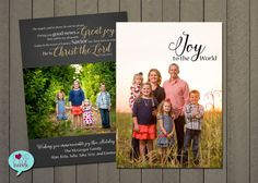 Christmas New Year's Photo Card Religious Christian by lovebabble
