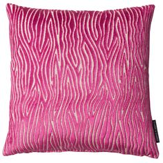 Onda Velvet Animal Fuchsia Square Cushion