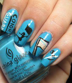 color guard nails for band camp Color Guard Makeup, Hair And Nails, My Nails, Winter Guard, Cute Nail Designs, China Glaze, Cute Nails, Nail Polish, Colorguard