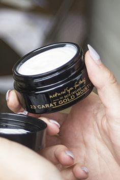 Give your face & neck a moisture boost with the deeply nourishing 23-Carat Gold Moisturiser - yes, it's as luxurious as it sounds! With 23-Carat #Gold & #Caviar Extract you'll be living the life of luxury when using this cream. It has a lightweight, velvety texture which glides across your skin, instantly moisturising and leaving the skin youthfully revitalised! Perfect for a day or night cream. #natural #naturalskincare #naturalingredients #naturalproducts #beauty #spa