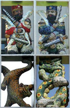 Mosaic Art Work at Zuoying Junior High School, Kaohsiung City, Taiwan (高雄左營國中) by HMG Mosaic Art Studio (紅毛港馬賽克工作室)