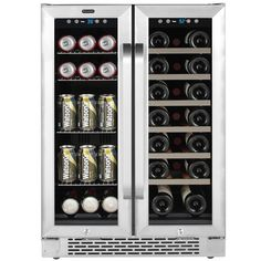 Whynter 24 in. Built-In French Door Dual Zone Wine and Beverage Cooler Black - Beverage Refrigerator - Ideas of Beverage Refrigerator - Whynter 24 in. Built-In French Door Dual Zone Wine and Beverage Cooler Black