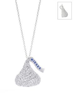 Silver & Co Sterling Silver 3D CZ Hershey's Pendant