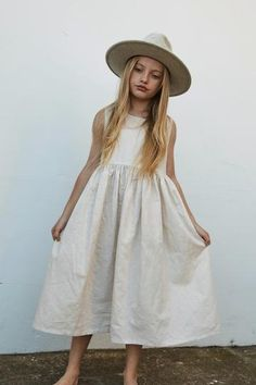 Daughter produces natural, ethical childrenswear from unique cotton and linen fabrics sourced from around the globe. Picnic Dress, Sunday Dress, Natural Linen, Beautiful Children, To My Daughter, White Dress, Ivory, Summer Dresses, Collection