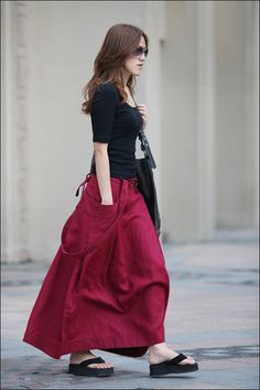 Gypsy skirt with a pocket