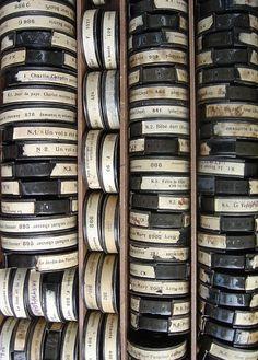 We've got both film reels http://www.archantiques.com/unique/film-reels and canisters http://www.archantiques.com/unique/film-canisters, and even a film winder http://www.archantiques.com/unique/film-winder!