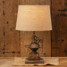 Vintage Inspired Coffee Grinder Lamp