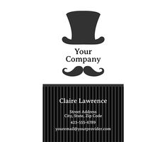Download this Mr. Top Hat Business Card Template and other free printables from MyScrapNook.com