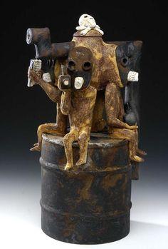 Wesley Anderegg, ceramic sculpture.