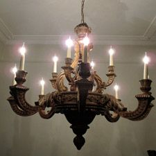 Paintings & Mirrors - An outstanding, circa 1890/ 1900, English, 12 light Chandelier,in the Queen Anne / George I taste, of large proportions, and finely carved limewood, been recently rewired to English standards, that will make a statement in any setting. This chandelier is the typical type of chandelier found in the Grand Houses of England, and has got a wonderful quality and great size. Traces of the original gilding. Please note that the measurements are only for the chandelier. Th... Lantern Lamp, Lanterns, Ceiling Rose, Ceiling Lights, Wood Chandelier, Chandeliers, Wooden Ceilings, Mirror Painting, Grand Homes