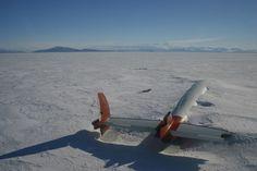 Les restes du Pegasus en Antarctique