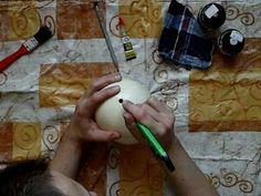 Making egg art 1/2 エッグアート作りその1 - YouTube