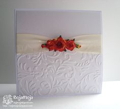 Na CRAFT-alnici  smo se odele v ljubezen z vabili in čestitkami ob poroki. Janja želi, da uporabite vsaj en relief.    :) nisem vseh česti... --//-- someone.. translate! Such a. Pretty card! How was it made?