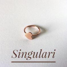 Singulari joias - anel coraçao em ouro rosé