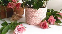 Doniczka z warkocza | Klinika DIY Planter Pots, Diy, Vase, Decor, Balcony, Decoration, Bricolage, Do It Yourself, Vases