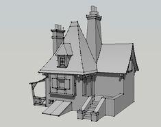 Belle's House 3D - SketchUp by DJ1NNsGR1MO1R3
