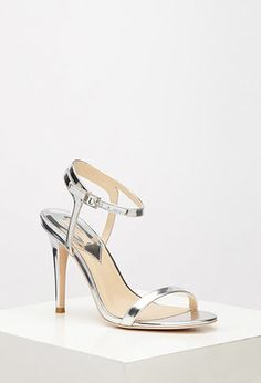 Metallic Ankle Strap Sandals | Forever 21 - 2000077370