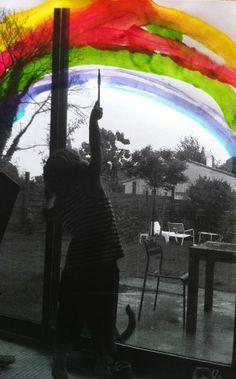 arc-en-ciel 6892 Photomontage, Art Plastique, Art School, Rainbow, Animation, Black And White, Kids, Photography, Painting