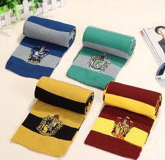 Hogwarts Houses Scarf  //Price: $15.99 & FREE Shipping //     #peterpettigrew #nevillelongbottom #prongs #jewelry #snitch