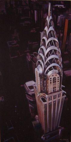 Chrysler Building, New York, Painting by Martin Orme, via Behance