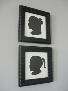 silhouettes. so pretty to display of your children and family.